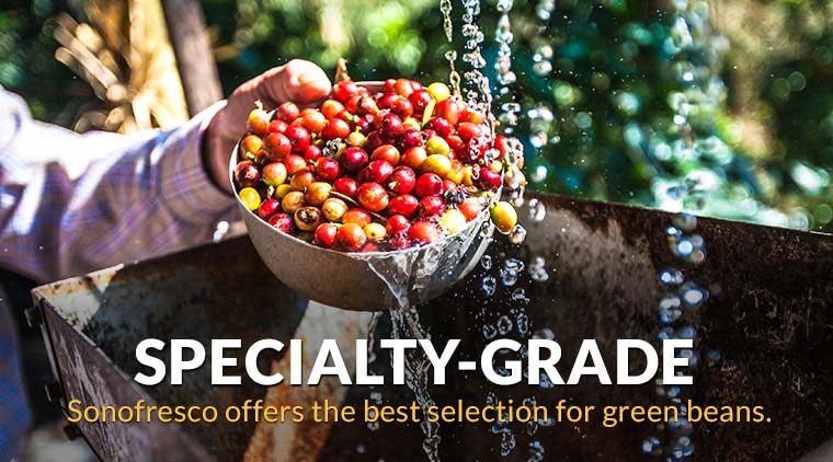 Sonofresco offers the best selection for green coffee beans.