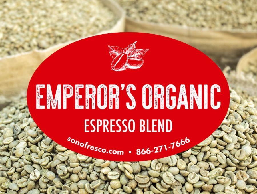 Sonofresco Emperors Organic Espresso Blend Coffee Bean 900x680  Emperor's Organic Espresso Blend