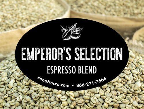 Sonofresco Emperors Selection Espresso Blend Coffee Beans 500x378  Colombia FTO Café Femenino