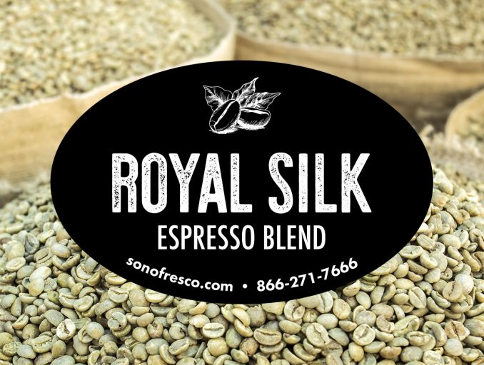 Sonofresco Royal Silk Coffee Beans 1 678x512  Royal Silk Espresso Blend