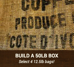 50LB Box of Green Coffee Beans