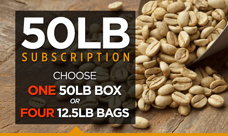 50LB Subscription (Choose one 50LB Box or Four 12.5LB Bags)