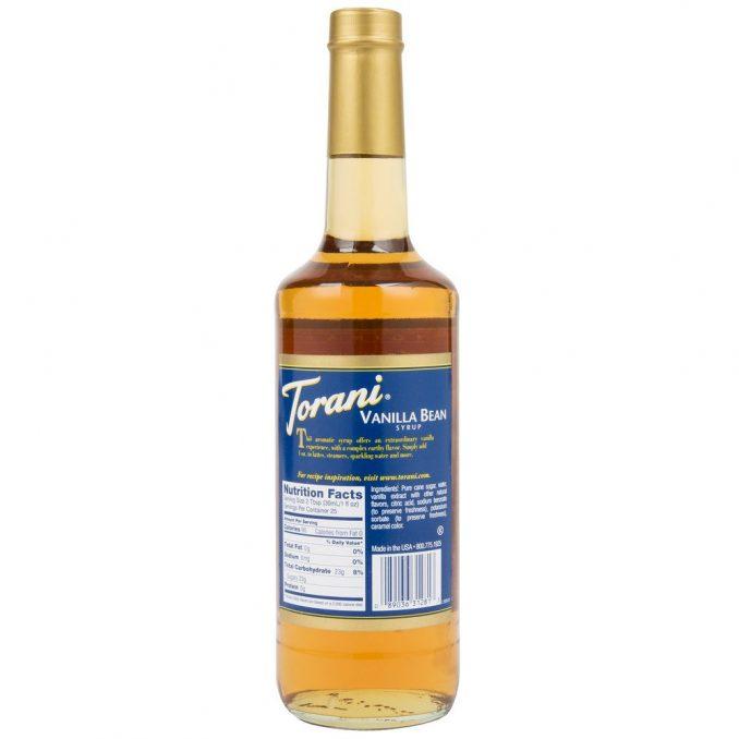 Torani Vanilla Bean Flavoring Syrup - 750 mL