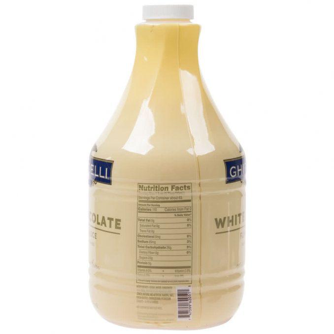 sauce white chocolate ghirardelli 64oz 2 678x678  Ghirardelli 64 fl. oz. White Chocolate Flavoring Sauce