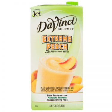DaVinci Gourmet 64 oz-Extreme Peach Real Fruit Smoothie Mix