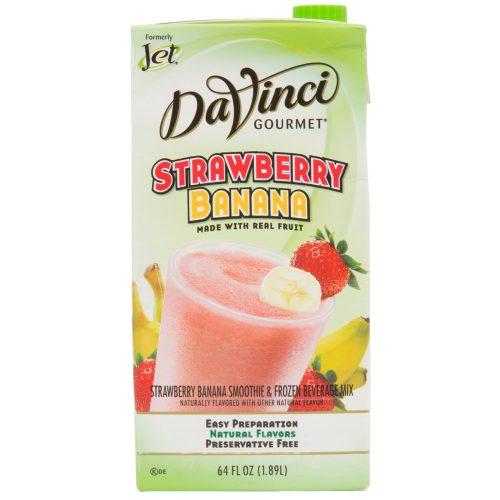 DaVinci Gourmet 64 oz - Strawberry Banana Real Fruit Smoothie Mix