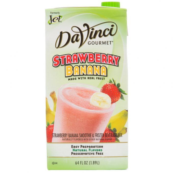 DaVinci Gourmet 64 oz - Strawberry Banana Real Fruit Smoothie Mix