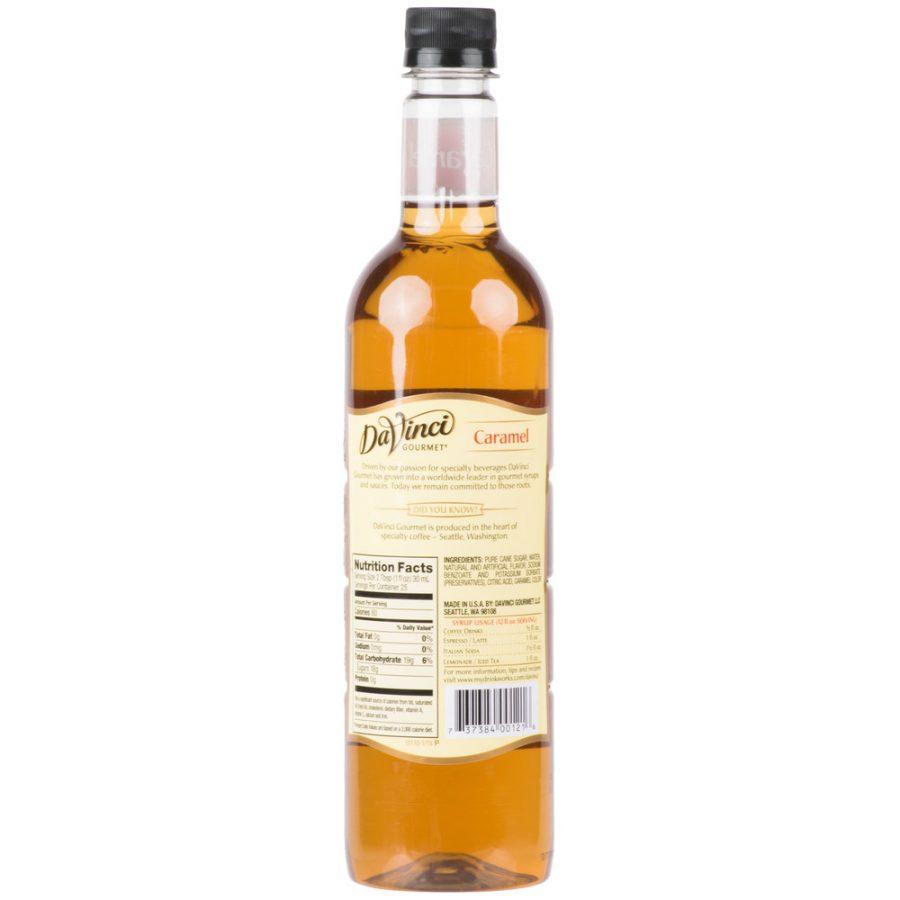 syrup caramel davinci 750ml 2 900x900  DaVinci Gourmet 750 mL Classic Caramel Flavoring Syrup