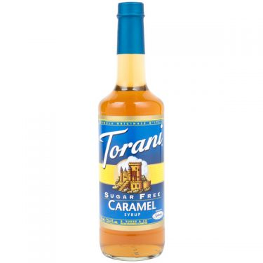 Torani 750 mL - Sugar Free Caramel Flavoring Syrup