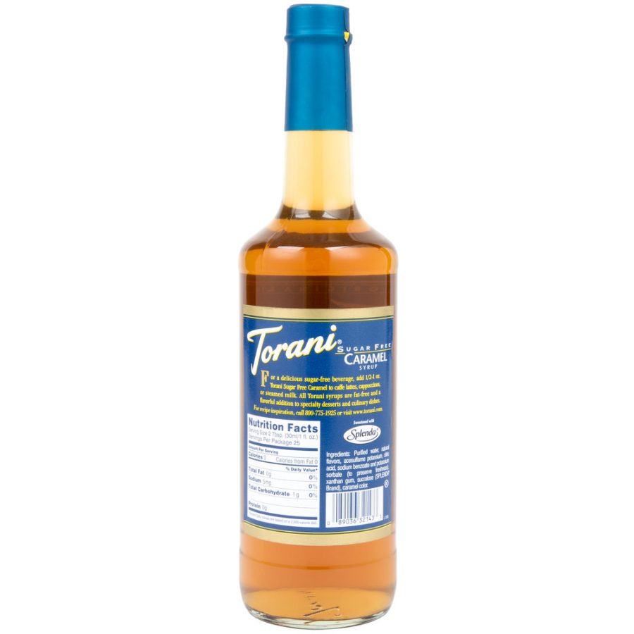syrup caramel sugar free torani 750ml 2 900x900  Torani 750 mL Sugar Free Caramel Flavoring Syrup