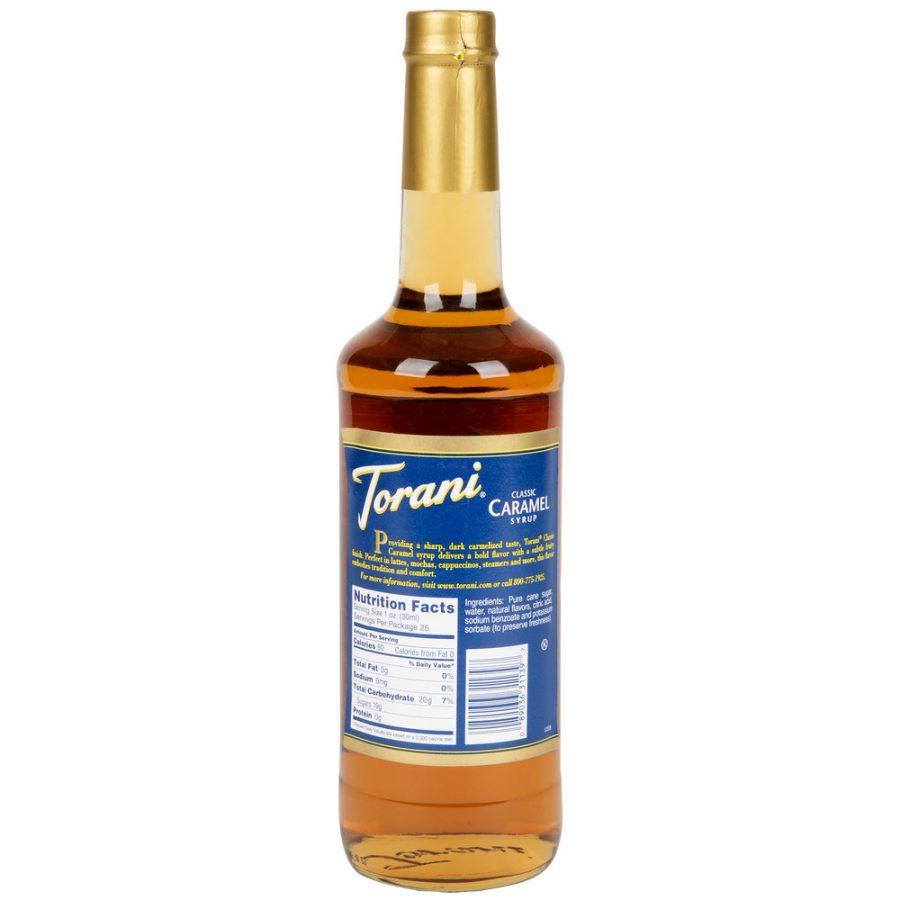 Torani 750 mL Classic Caramel Flavoring Syrup