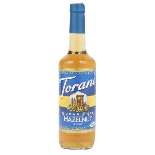 Torani 750 mL - Sugar Free Hazelnut Flavoring Syrup