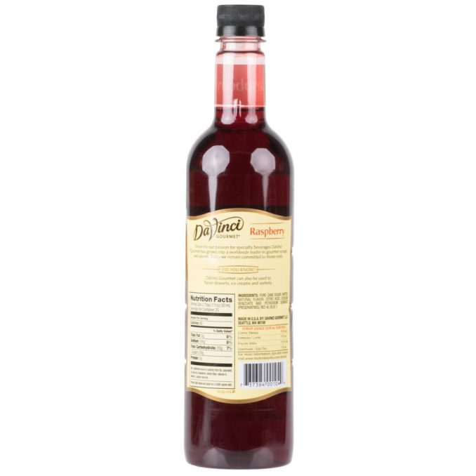 DaVinci Gourmet Classic Raspberry Flavoring / Fruit Syrup - 750 mL