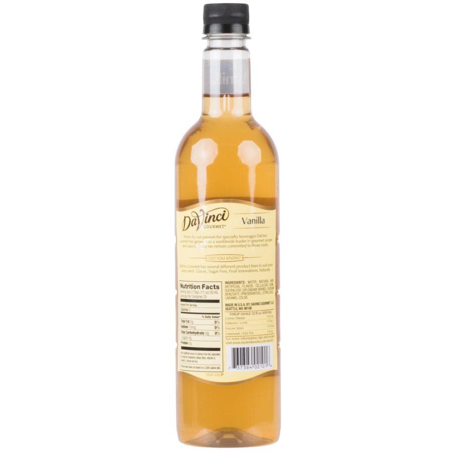 syrup vanilla sugar free davinci 750ml 2 900x900  DaVinci Gourmet 750 mL Sugar Free Vanilla Flavoring Syrup