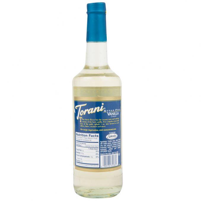 syrup vanilla sugar free torani 750ml 2 678x678  Torani 750 mL Sugar Free Vanilla Flavoring Syrup