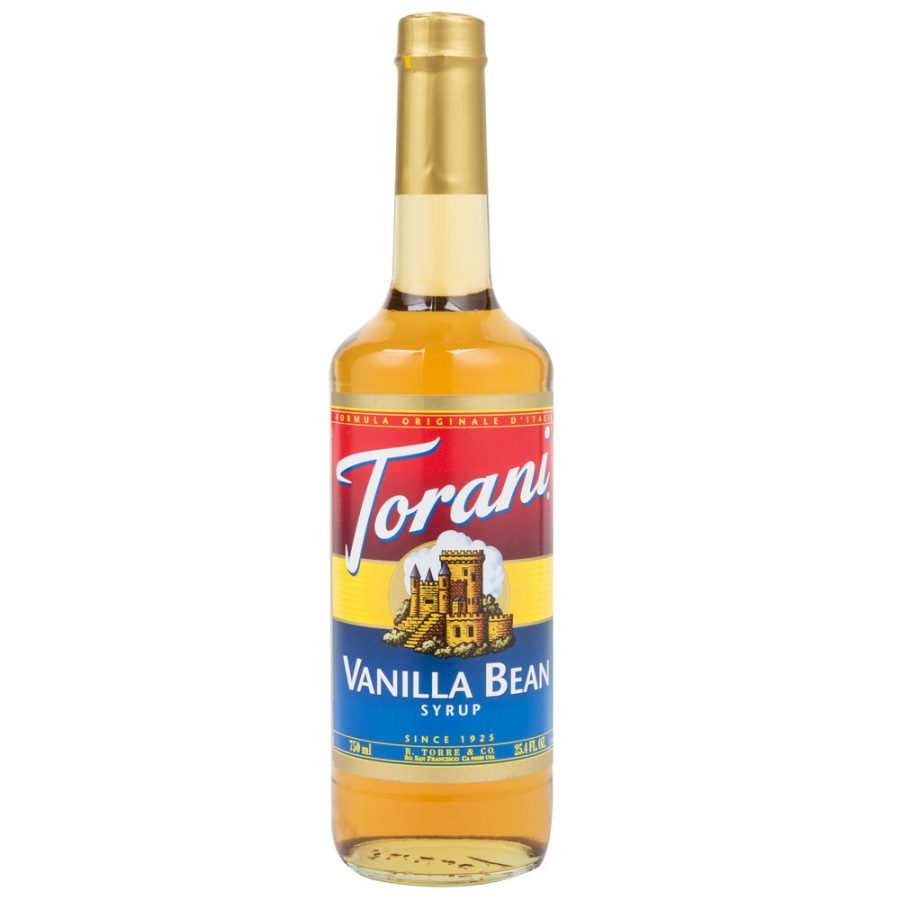 Torani 750 mL - Vanilla Bean Flavoring Syrup