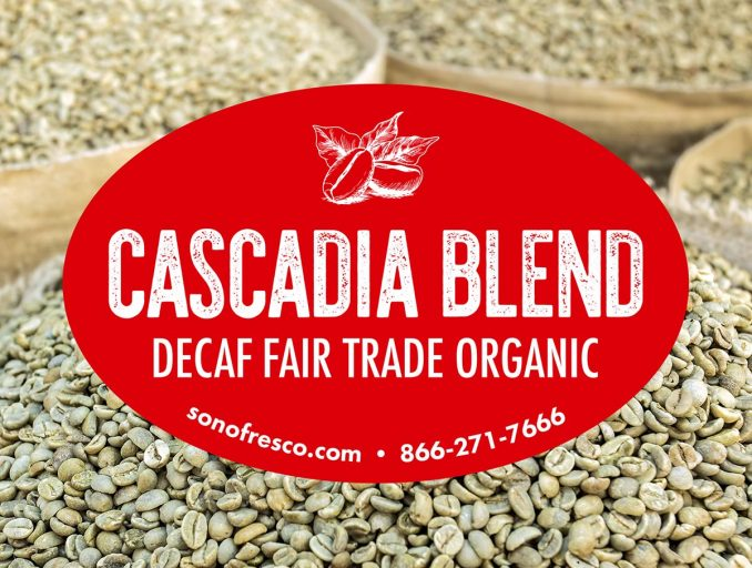Cascadia Blend Green Coffee Beans 678x512  Cascadia Blend Decaf FTO