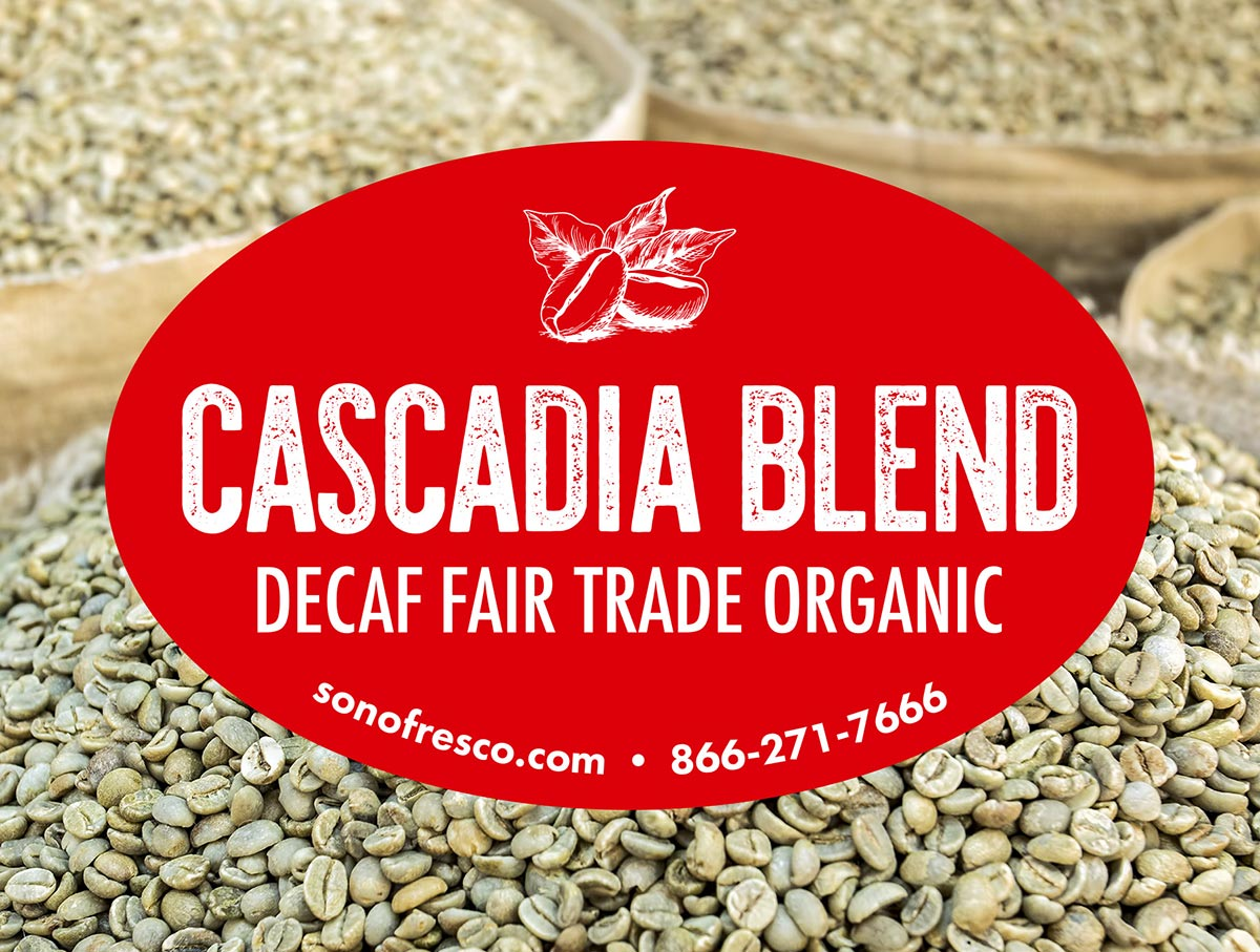 Cascadia Blend Decaffeinated Coffee Beans For Sale Sonofresco