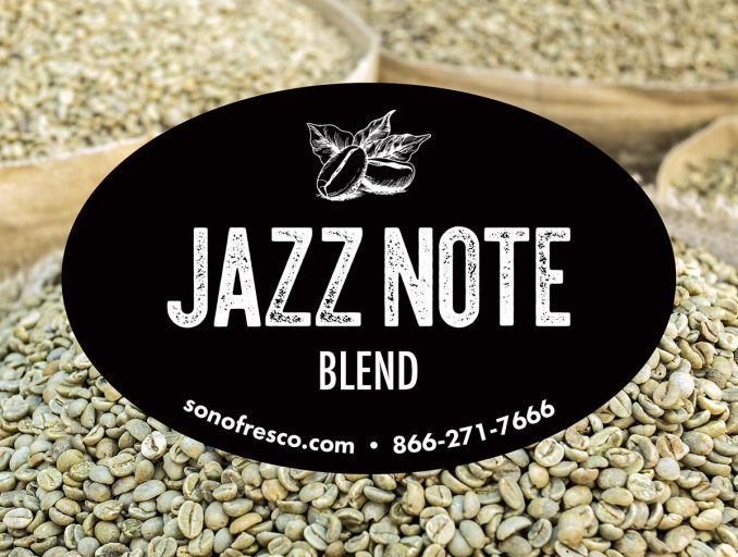 Jazz Note Blend Grean Coffee Beans 678x512 Jazz Note Blend