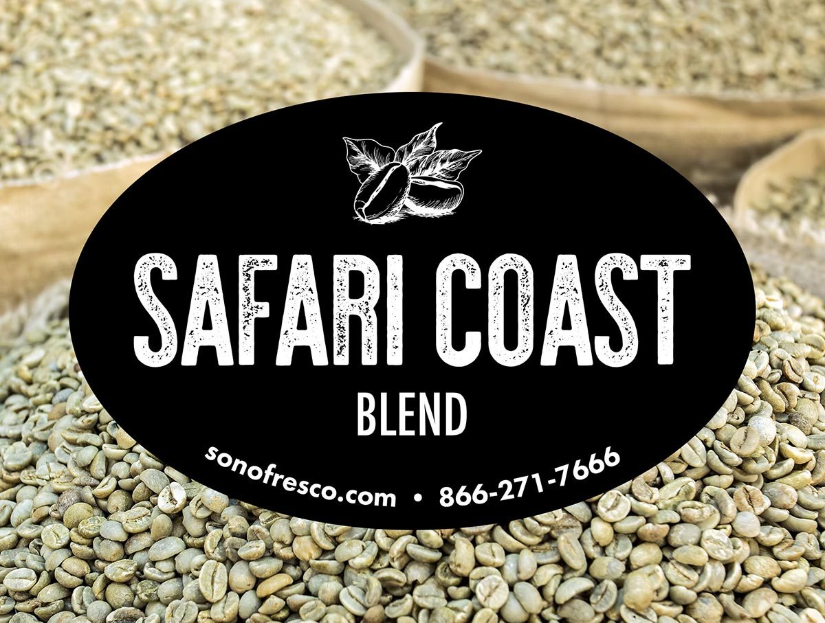 Safari Coast Blend Green Coffee Beans For Sale 20lb 50lb